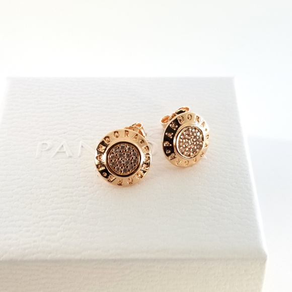 461cb24e4 Pandora Jewelry | 280559 Rose Gold Signature Stud Earrings | Poshmark